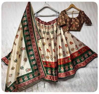 Latest Designer Heavy Fluid  Silk With Digital Print Lehenga  Choli