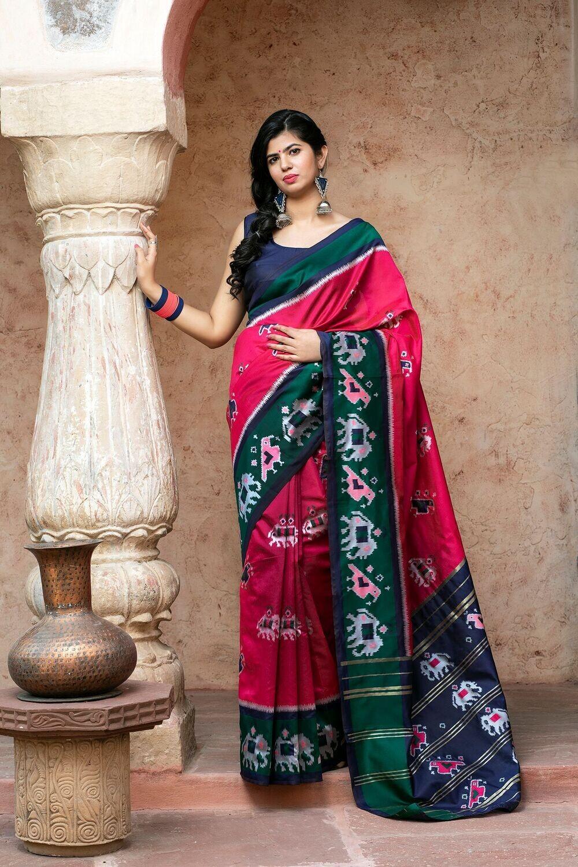 Fancy Designer Patola Weaving Silk Saree
