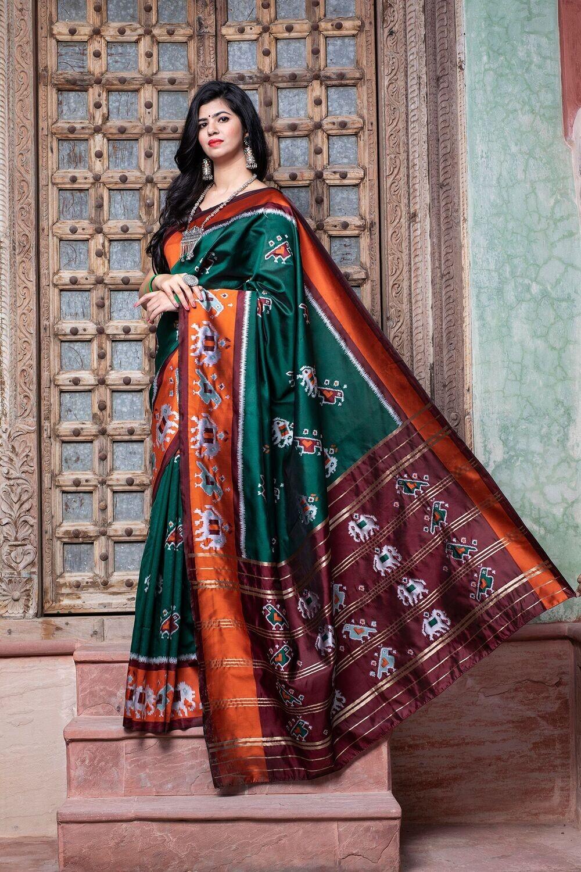 Elegant Designer Patola Silk Saree