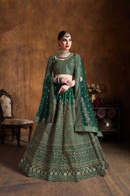 Radiant Bridesmaid Wear Zari Embroidery Embellished Lehenga Choli