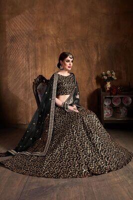 Majesty Black Color Party Wear Heavy Sequence Lehenga Choli