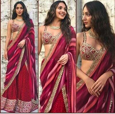 Sharara palazo saree, Indo western dress, fusion wear, occasional wear, embroidered set