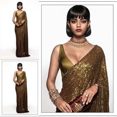 HUGE SABYASACHI inspired , Bridesmaid high quality SEQUENCE saree, Limited collection, designer saree for reception, parties Bollywood