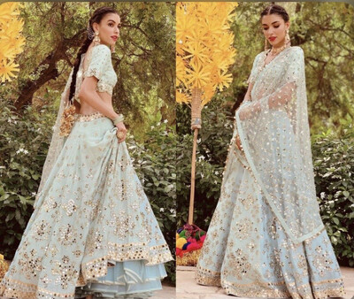 Pista Green Foil Work Designer Lehenga Choli for Women Embroidery Indian Custom Size Made Bridesmaids Dress Bridal Wedding Skirts Girlish