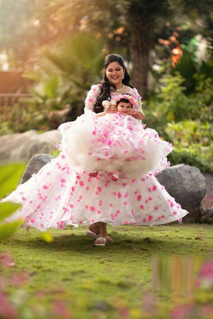 Designer Mom And Daughter Dress India