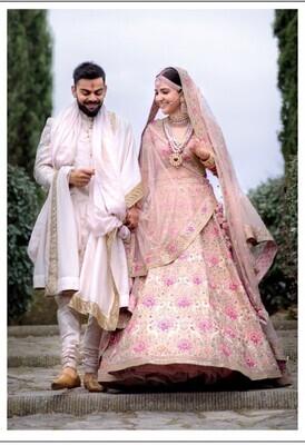 Anushka Sharma Designer Off White Bridal Lehenga Choli
