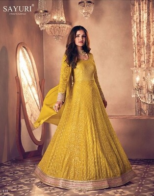 Diwali Special Salwar Suit With Heavy Embroidery In Mustard Yellow