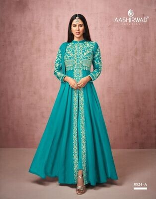 Diwali Special Salwar Suit With Heavy Embroidery In Torquoise Blue