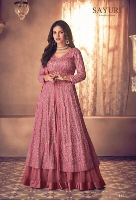 Diwali Special Anarkali Lehenga With Heavy Embroidery In Mesmerizing Pink
