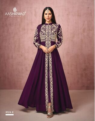 Diwali Special Salwar Suit With Heavy Embroidery In Purple
