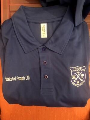 Men's blue polo shirt