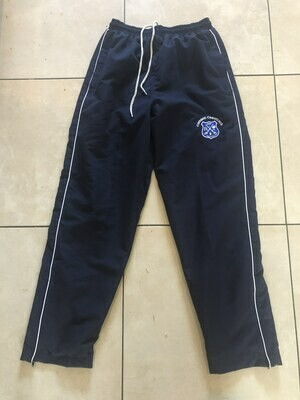Plain Navy Trackpants with white piping