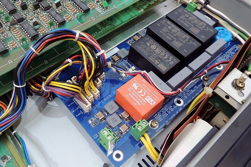 Installation of P0004 power supply into Roland Super-JX