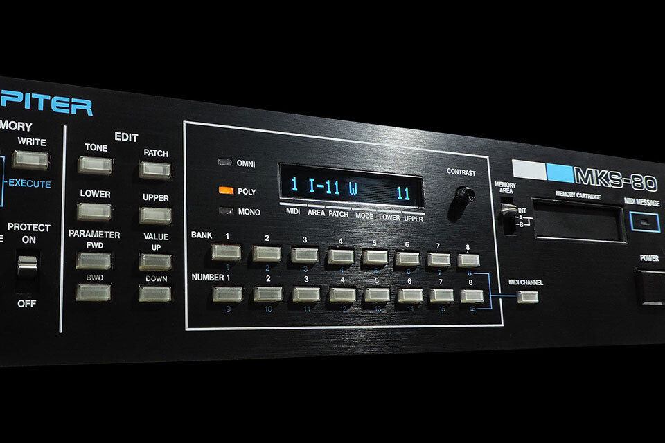 Installation of OLED display module for Roland MKS-80