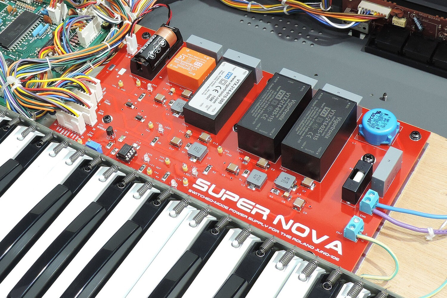 Installation of Super Nova Switched-Mode Power Supply for the Roland Juno-106