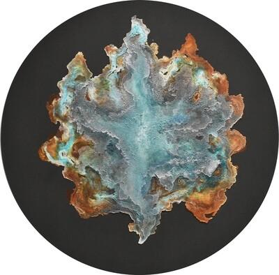 """Aeolus, 48dx2,"""" mineral on panel, 2020"""