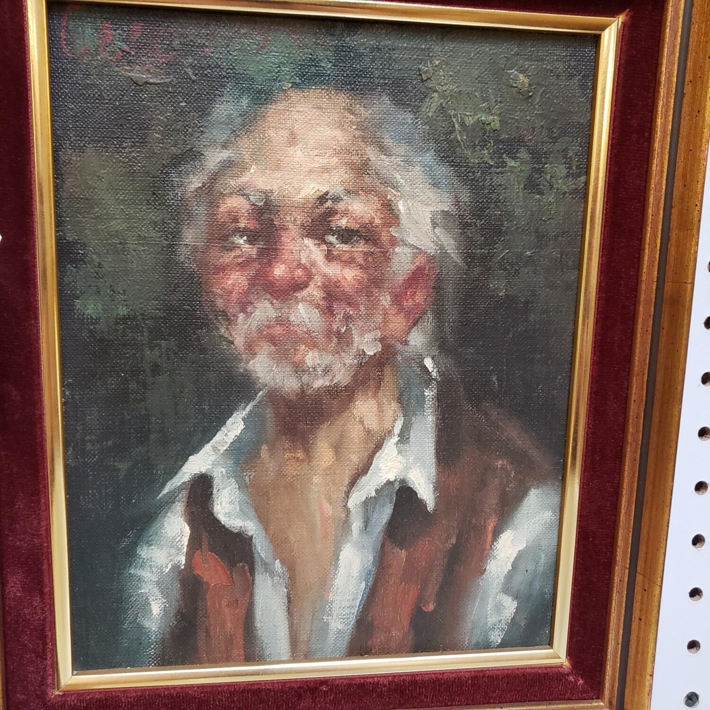 Oil painting original - old man