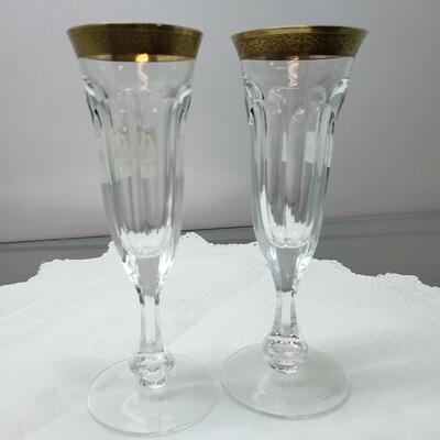 Moser Champagne Flutes