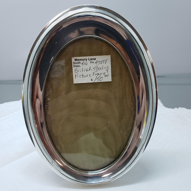 Birks Sterling Silver 5 by 7 oval frame