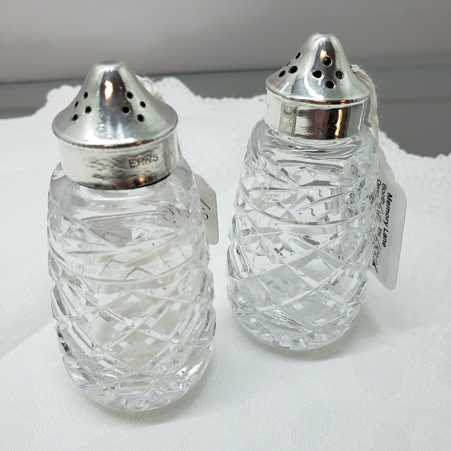 Waterford Glendore salt and pepper shakers