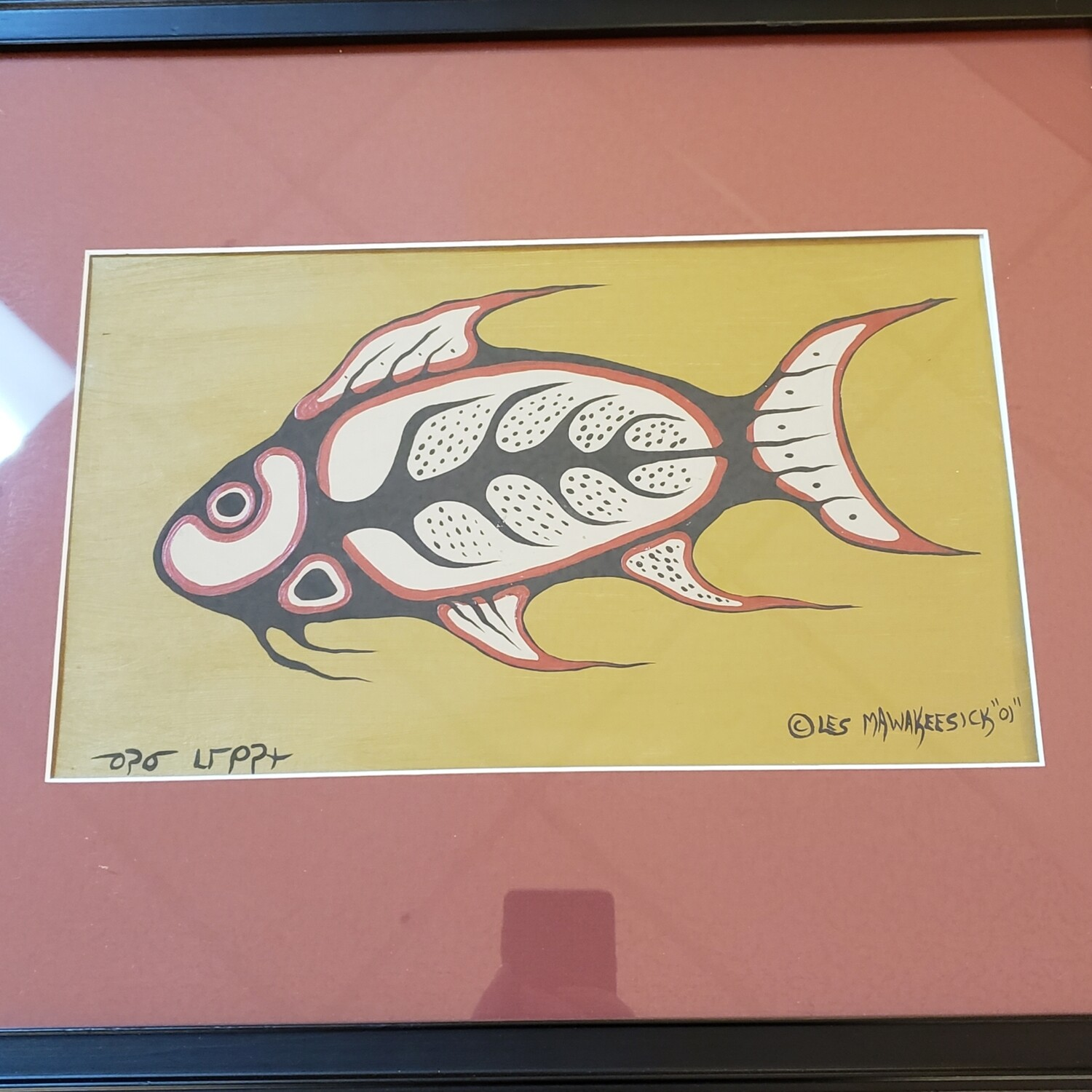 Fish - painting by Less Mawakeesick