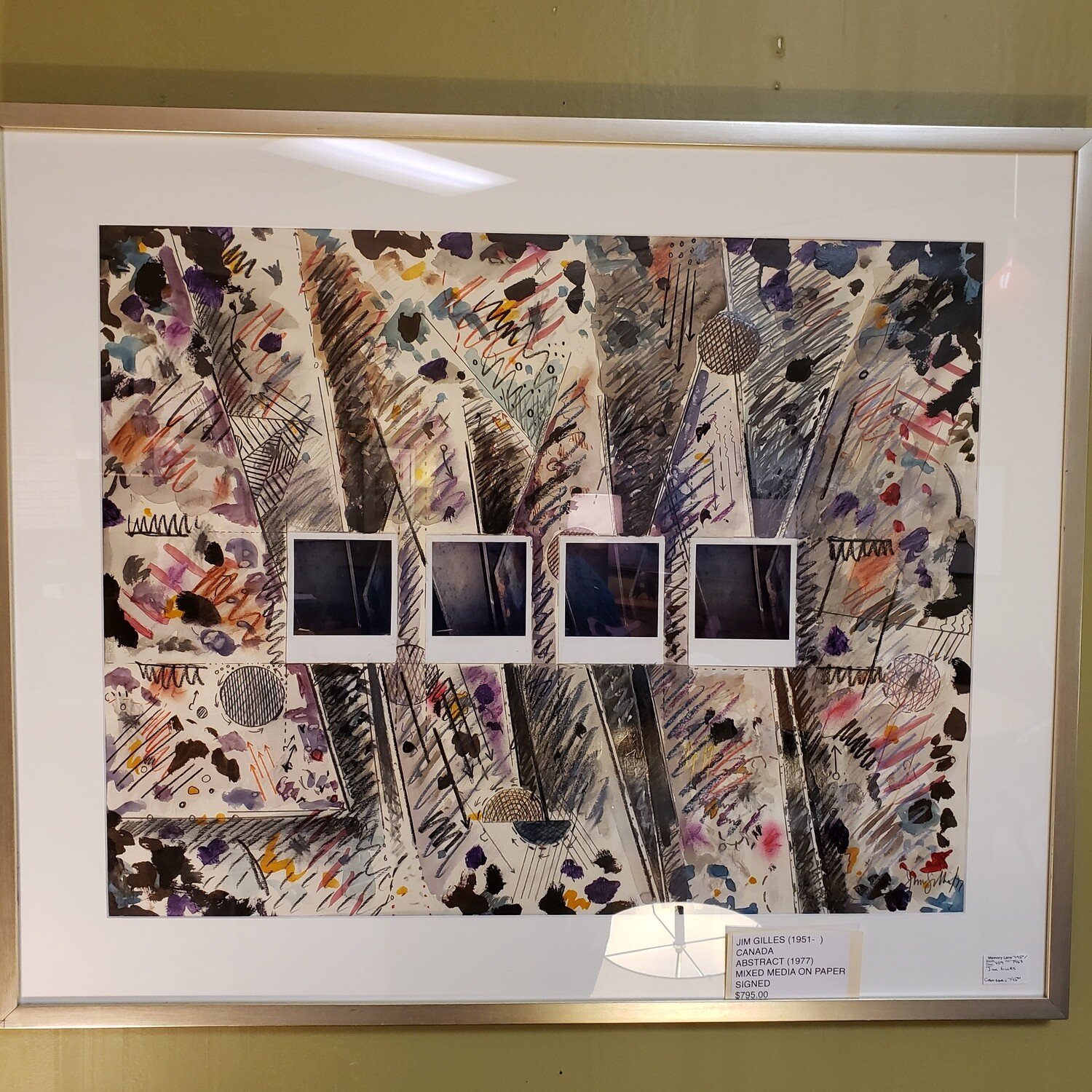 Jim Gilles - Abstract Mixed Media on Paper signed