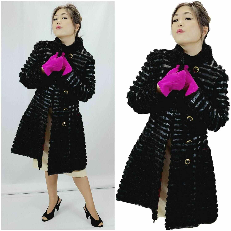 MID 1960S MOD Persian Lamb & Leather Coat