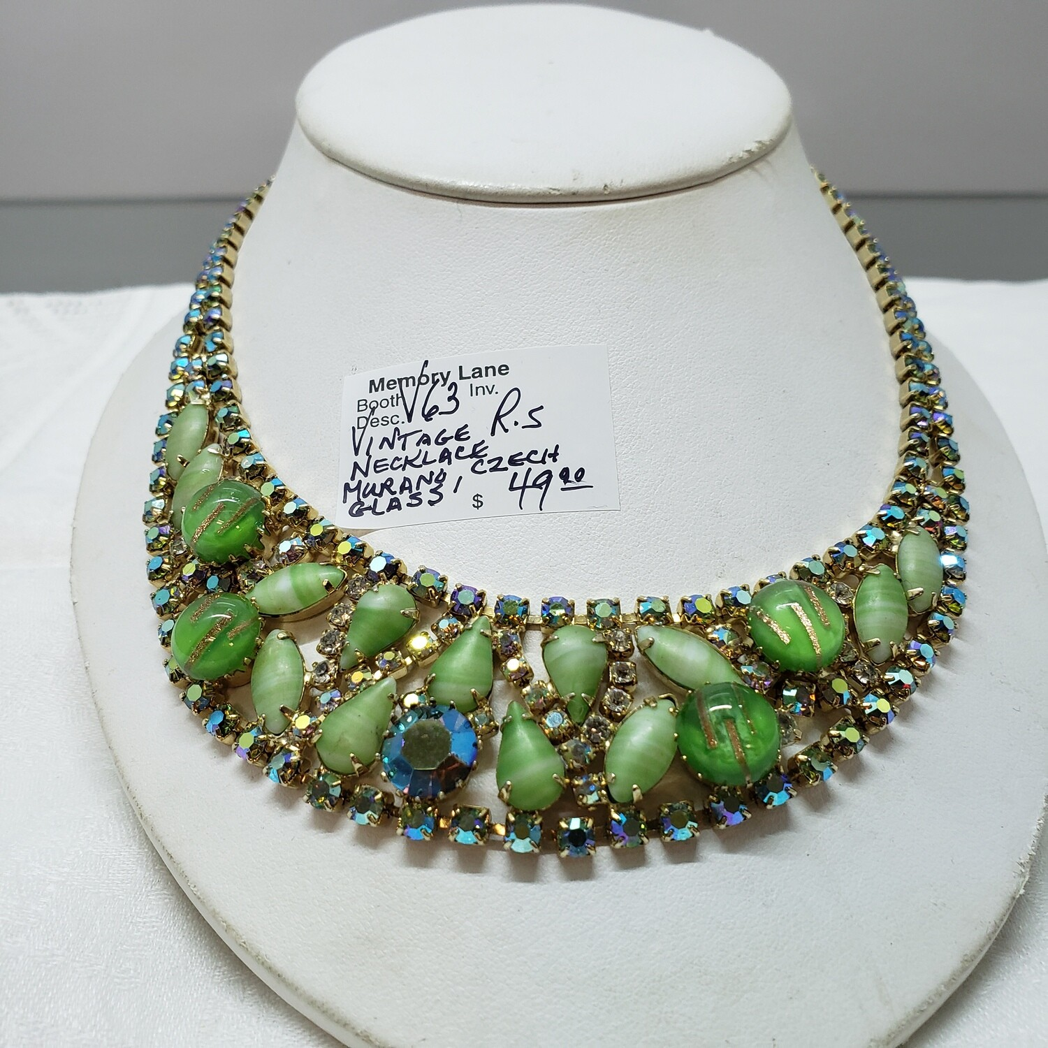 Vintage Necklace Murano glass