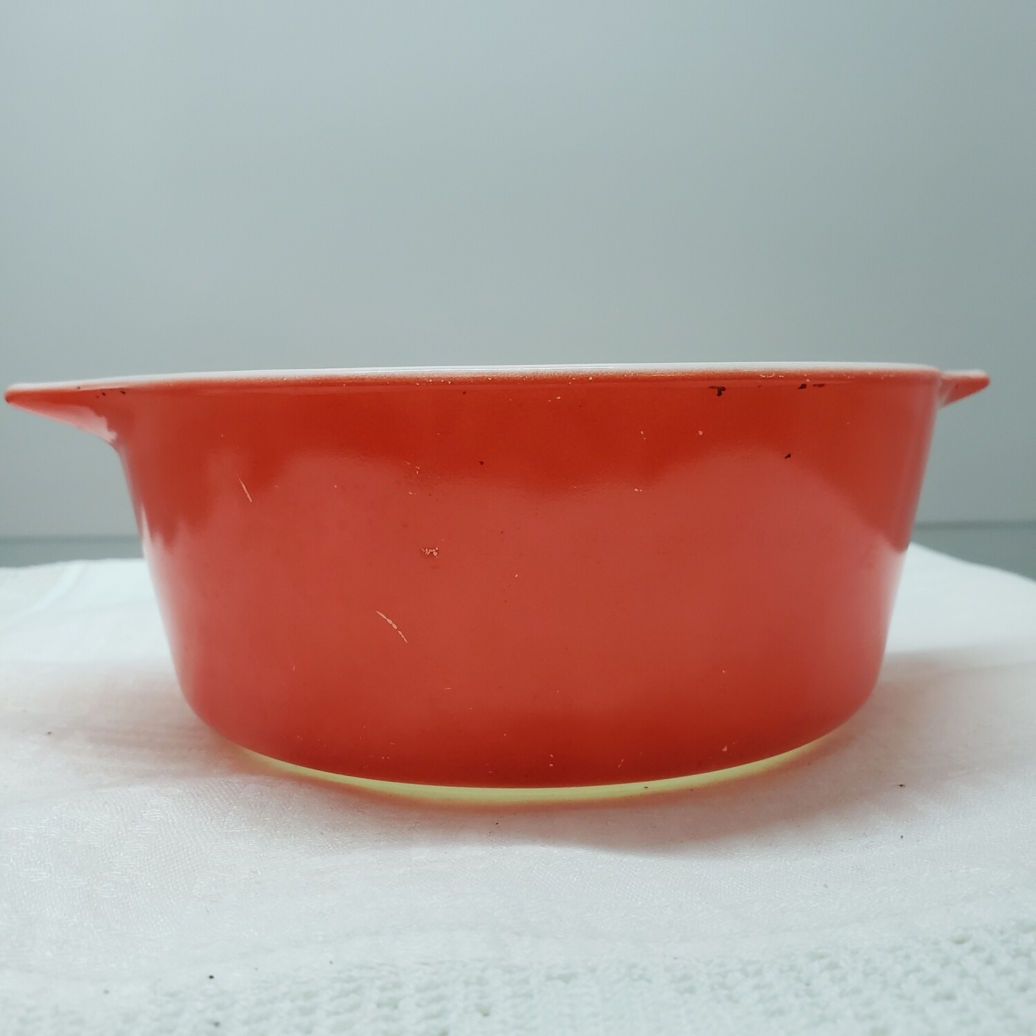 Small Red Pyrex bowl