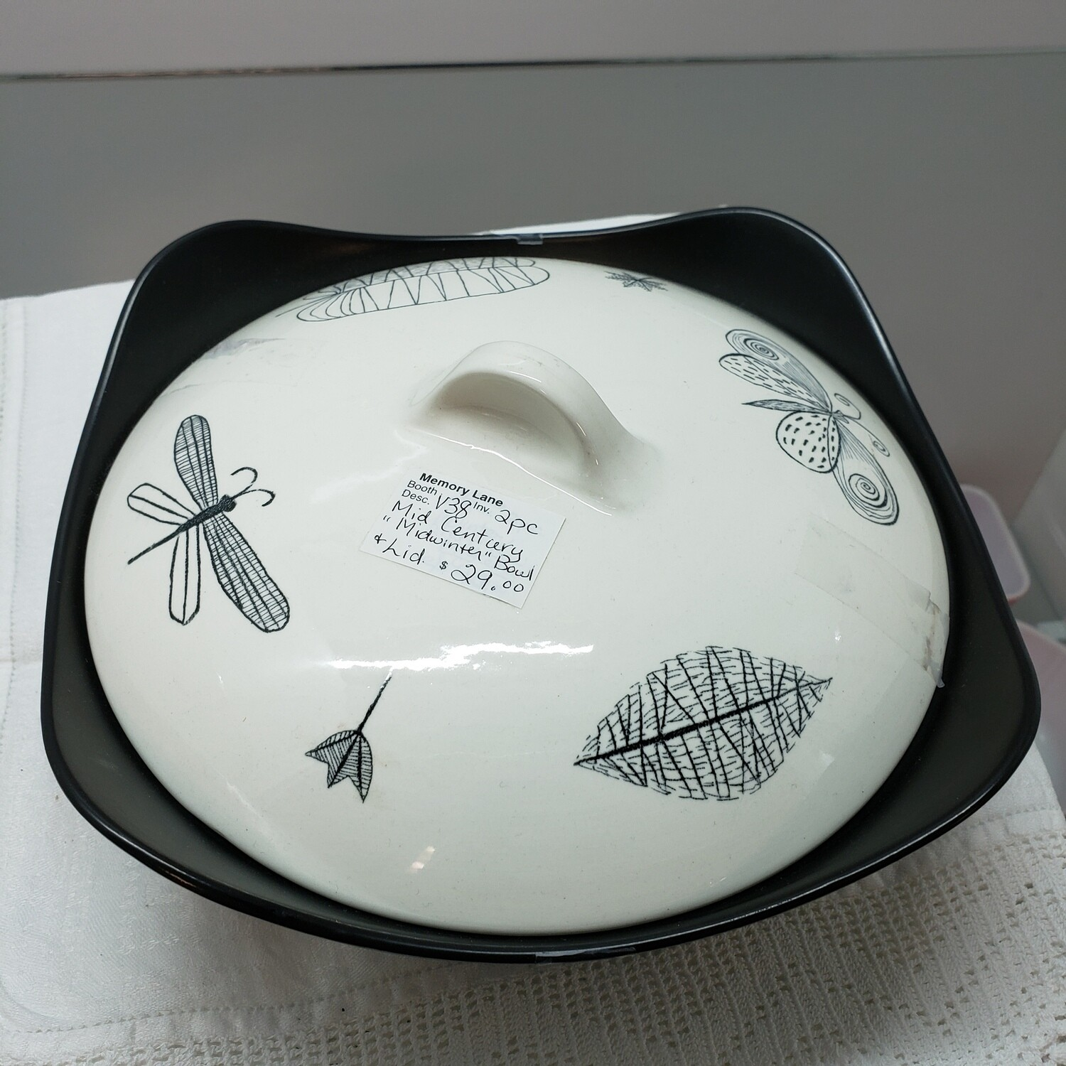 Mid Century Modern Bowl with Lid