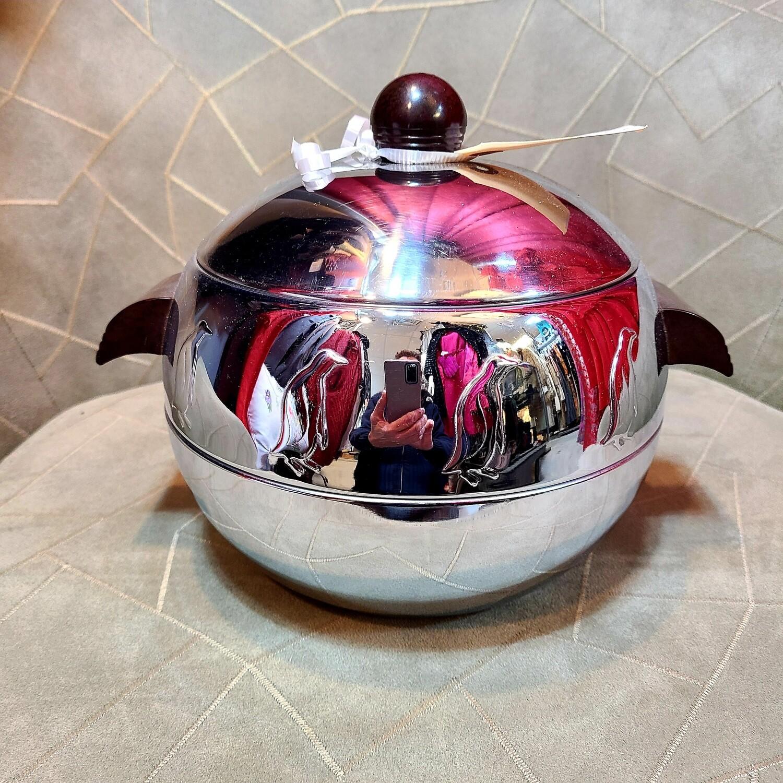 1950s Chromium - Bakelite Handle Ice Bucket