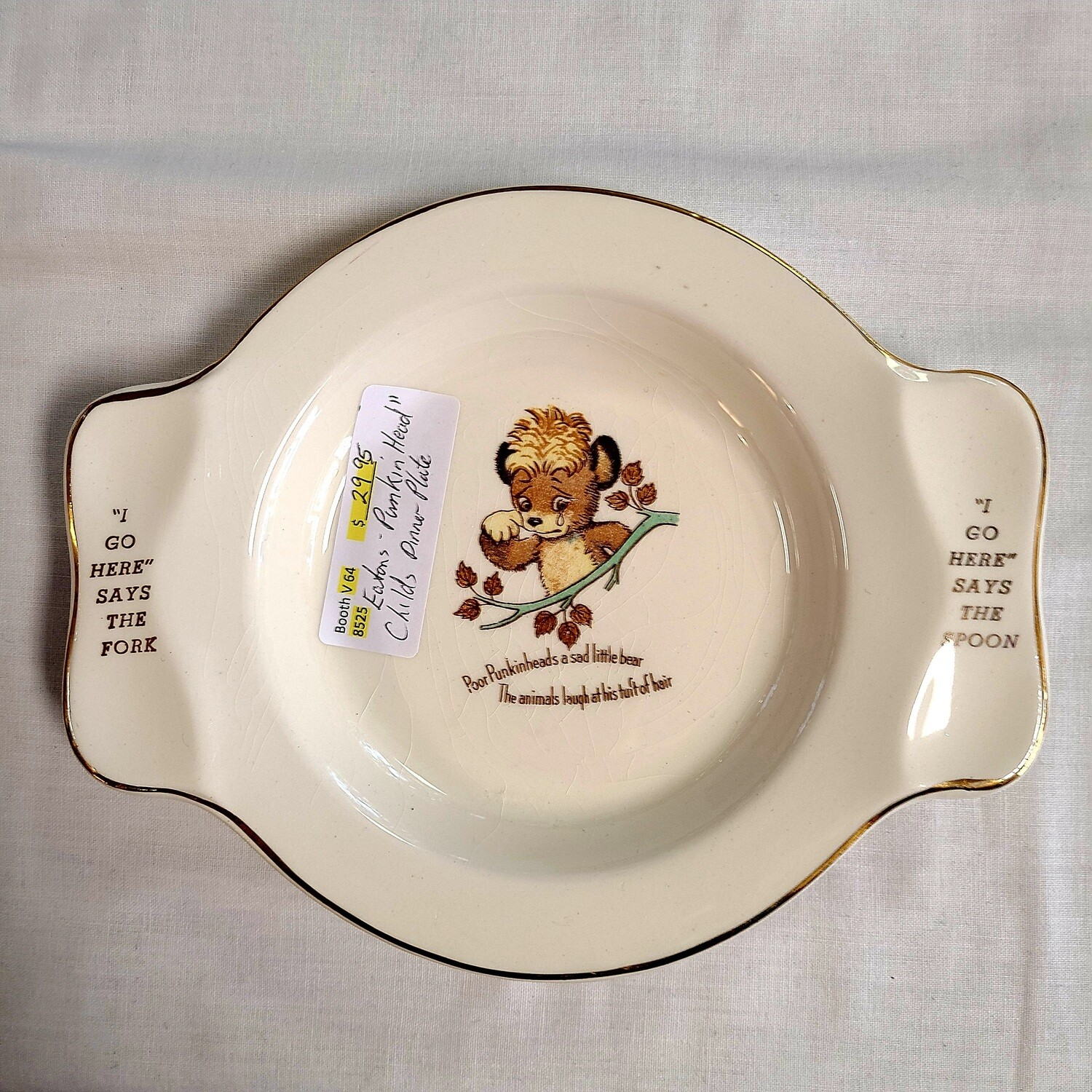 Eaton's Punkin Head 1950s Childs Dish