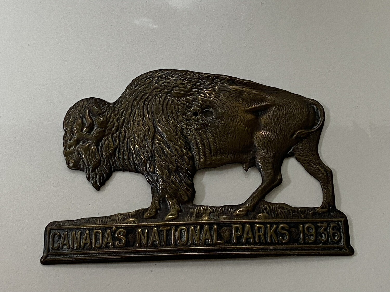 1936 National Parks License Plate Topper