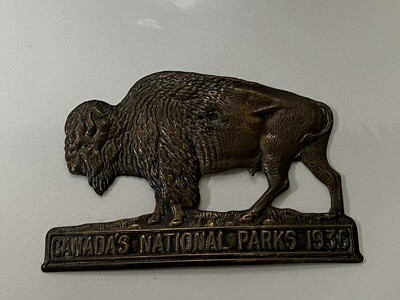 1936 National Parks License Plate Topper