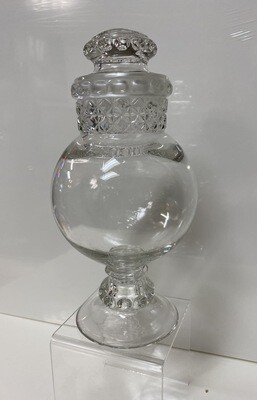Footed Apothecary Dominion Glass Jar / Candy Dish - Booth V94