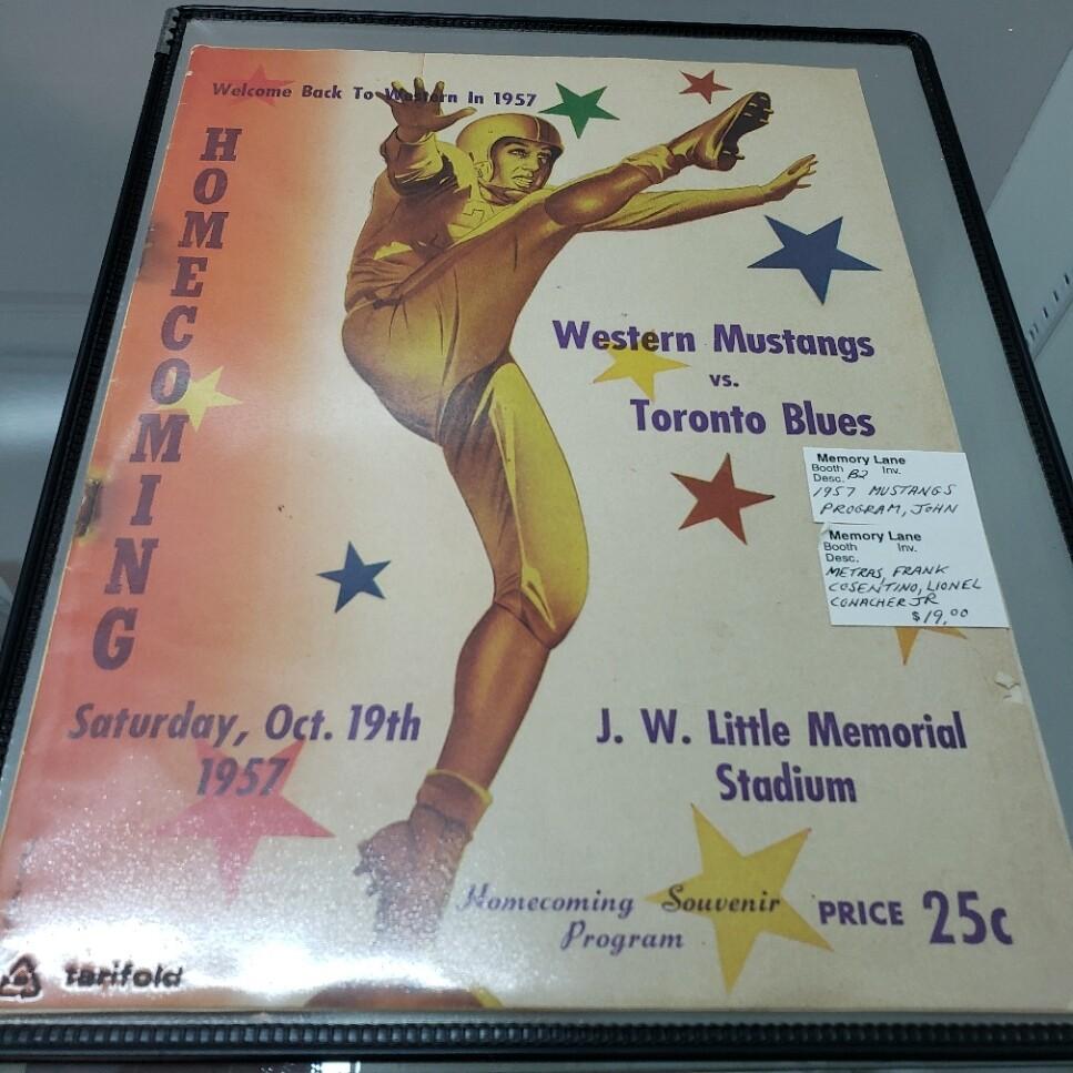 Western Mustangs Home Coming Program - 1957 - Booth B2