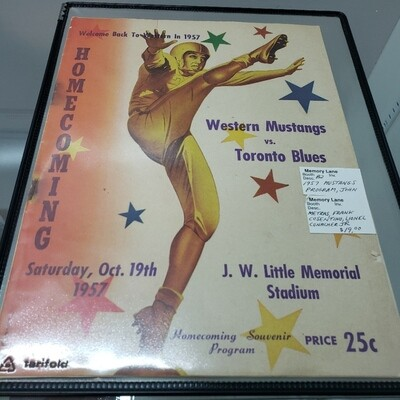 Western Mustangs Home Coming Program - 1957 - Booth B2