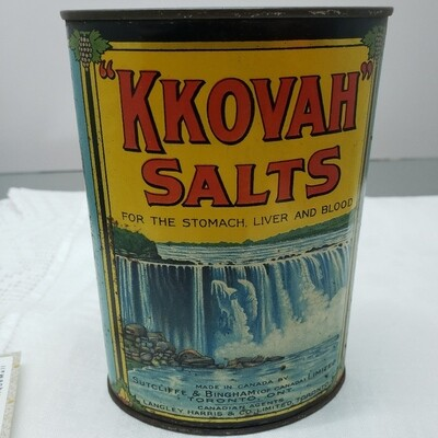 KKOVAN SALTS - tin container -  Booth V94