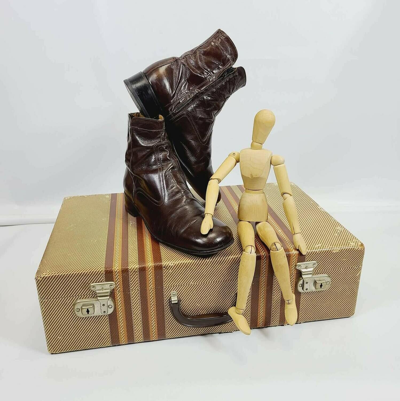 1960s - 70s Merlot Leather Beatle Boots