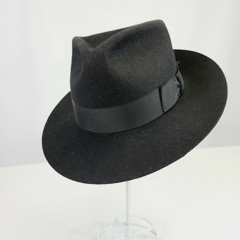 Gangster Black 1920s Style Fedora