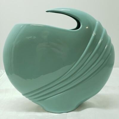 Light Blue Art Deco style Vase - A58