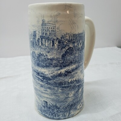 Royal Staffordshire Mug - White and Blue - D58