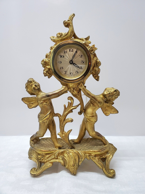Continental Gilt Clock - Art Nouveau - B34
