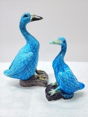 1920's Pair of Chinese Ducks - Turquoise - B34