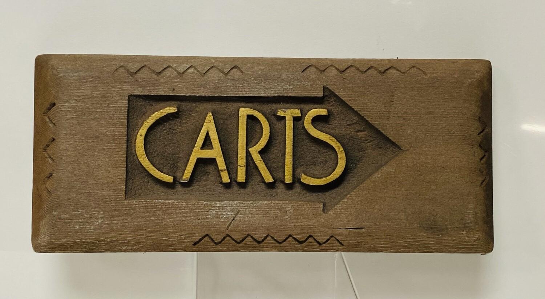Wood Art Deco -  Carts Sign -  V102