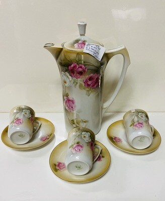 R.S. Germany - Cocoa Pot with 5 Cups and Saucers
