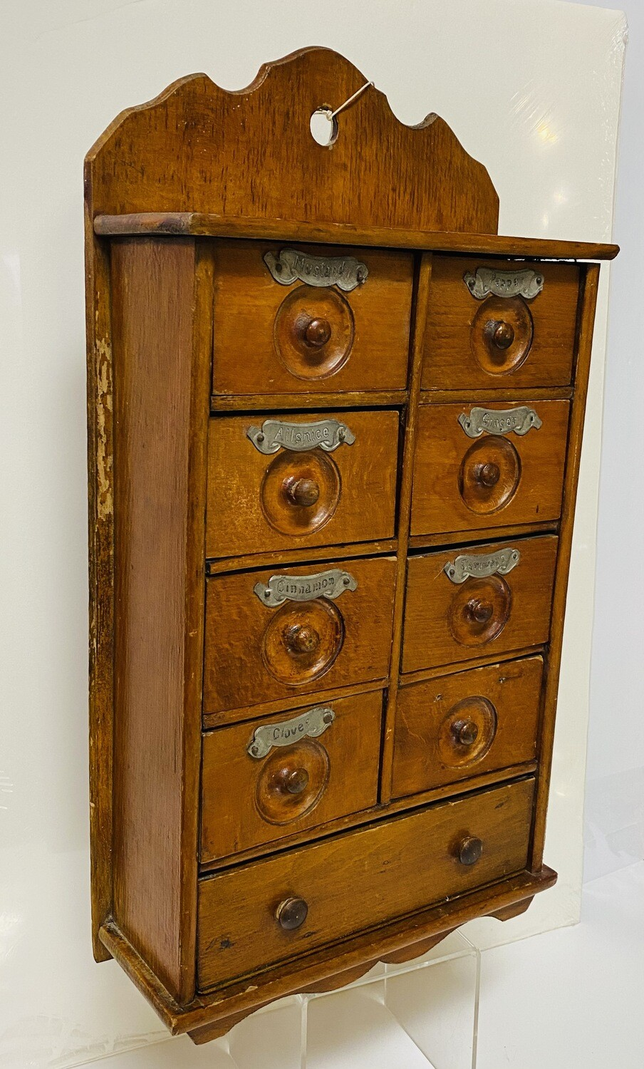 9 Drawer Spice Cabinet with Tin Name Plates