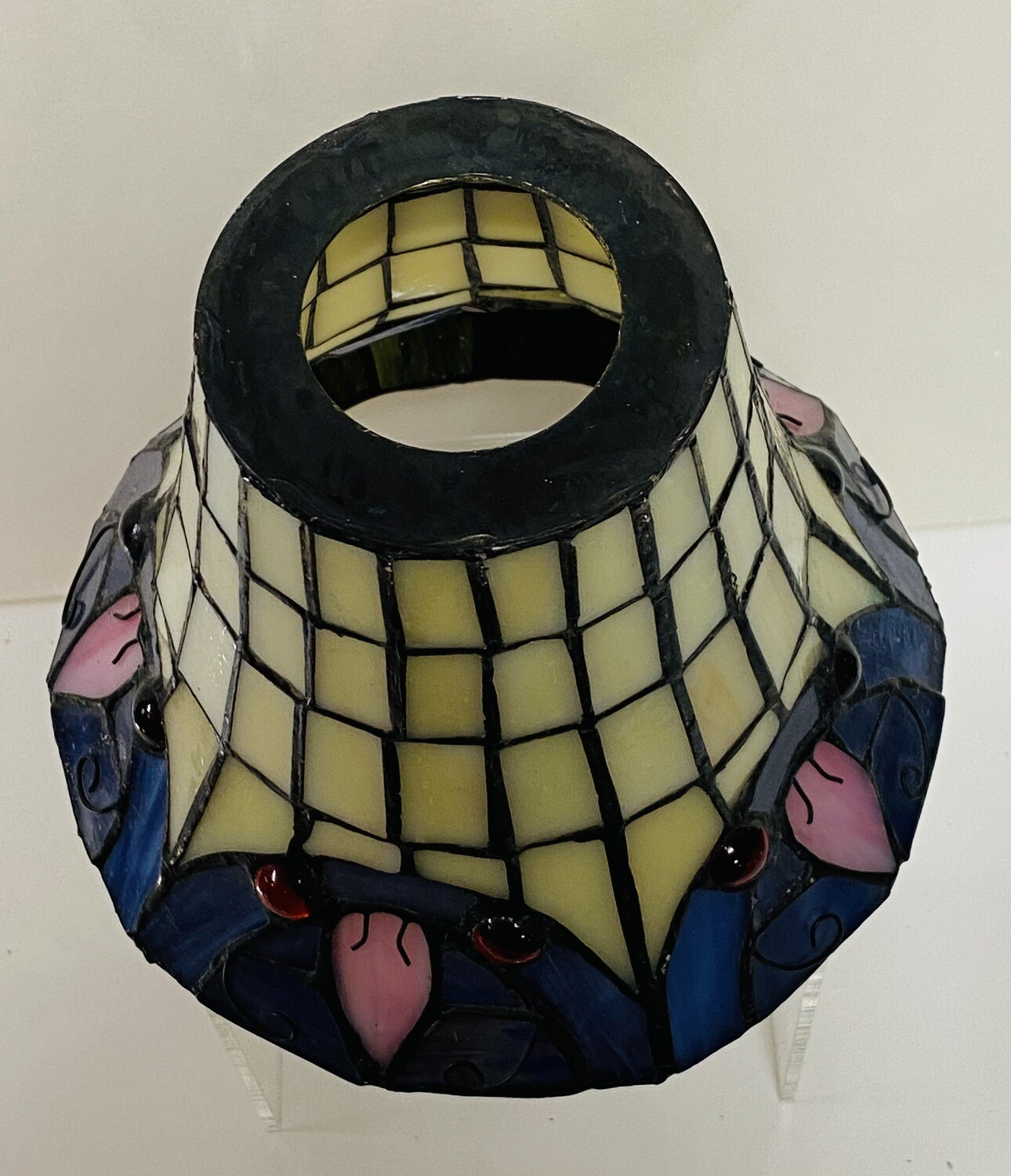 Leaded Coloured Glass Shade -  6 in total available