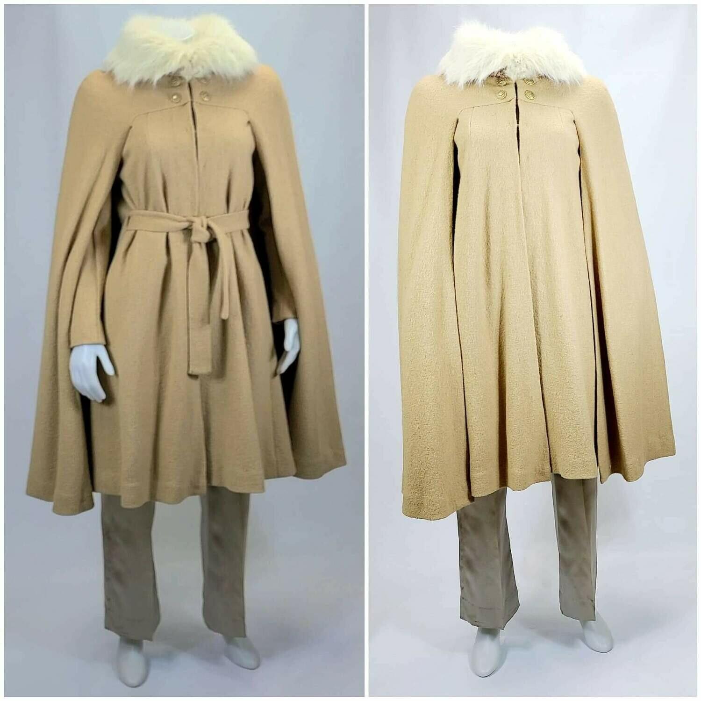 1970s Camel Tone Cape / Coat Combo