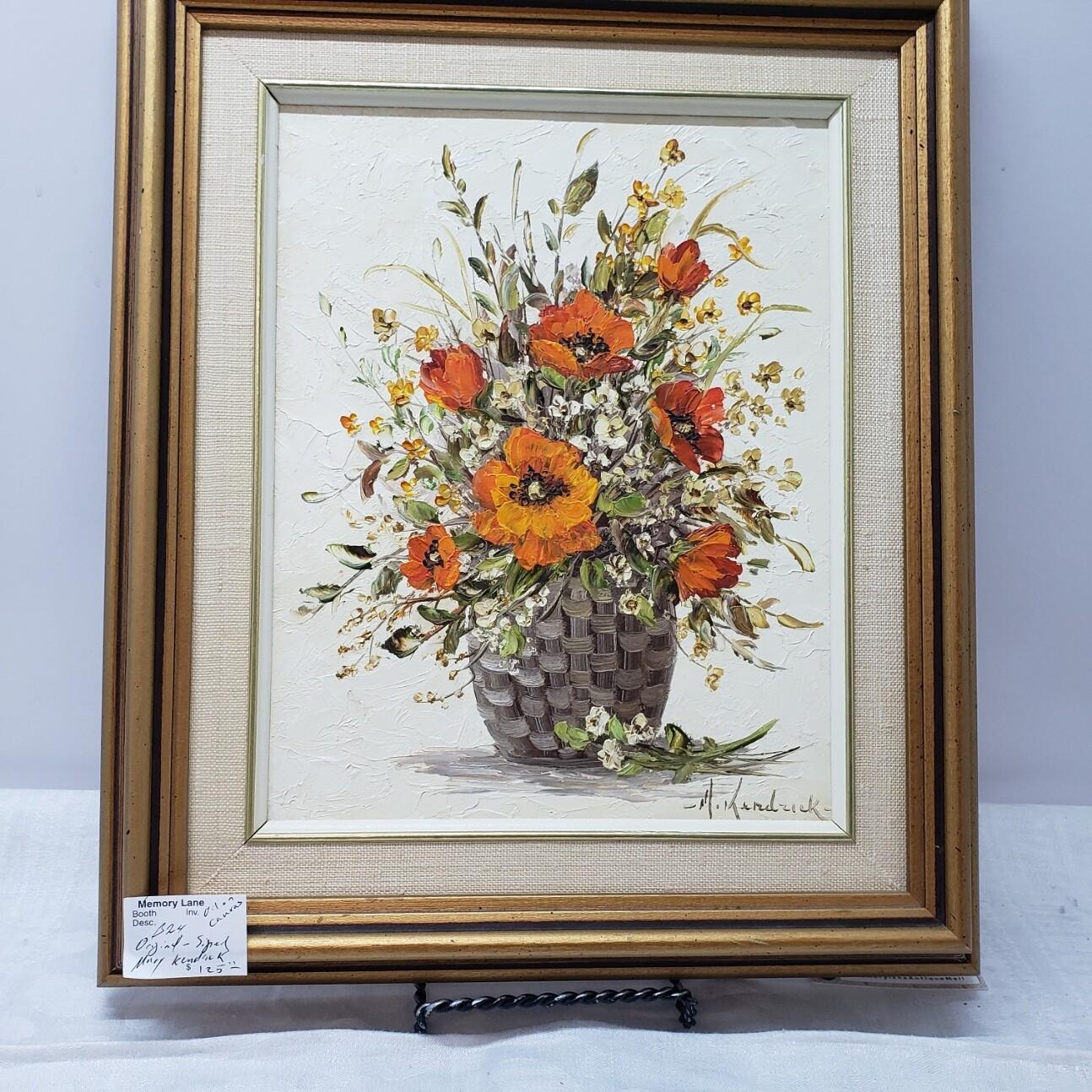 M Kendrick - Poppy Basket - oil painting